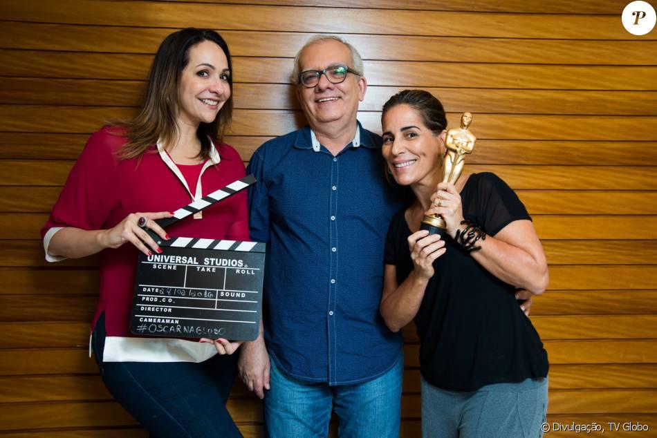 'Gloria Pires acordou, mandou memes para a gente', garantiu Arthur Xexéo negando indisposição da atriz para comentar o Oscar no último domingo, 28 de fevereiro de 2016
