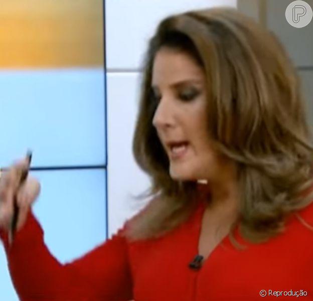 Christiane Pelajo e o ministro da saúde, Marcelo Castro, na estreia de seu novo noticiário, o 'Edição das 16h', na Globo News