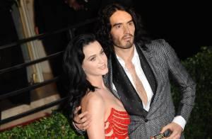 Katy Perry parabeniza, via e-mail, Russel Brand por completar 10 anos sem drogas