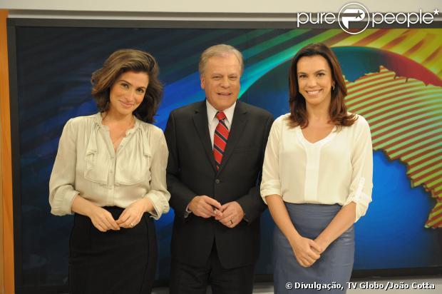 Renata Vasconcelos se despediu do 'Bom Dia Brasil' na manhã desta segunda-feira, 30 de setembro de 2013, e a apresentou Ana Paula Araújo, sua substituta