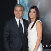 Sandra Bullock e George Clooney divulgam filme com a presença de Emma Watson