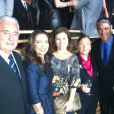 Bonner e os colegas do jornalismo da TV Globo