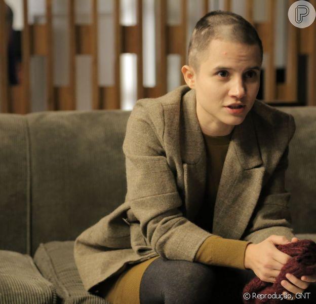 Bianca Comparato aparece de cabeça raspada no último episódio de sua personagem em 'Sessão de Terapia', do GNT
