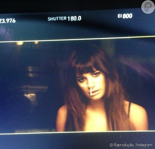 Lea Michele grava seu primeiro clipe, em 17 de novembro de 2013