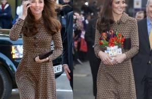 Kate Middleton repete look usado há quase dois anos em evento ao lado de William