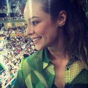 Paolla Oliveira vibra com ginástica artística na Rio 2016: 'Cara de boba'. Vídeo
