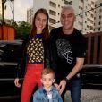 Alexandre Jr foi com o pai, Alexandre Corrêa, na festa de aniversário de Bento