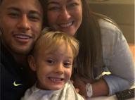 Neymar ganha apoio do filho e da mãe antes de novo jogo na Rio 2016: 'Família'