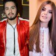 Luan Santana descarta romance com Camila Queiroz. 'Amigos', disse ele na coletiva de lançamento do novo DVD nesta quarta-feira, dia 10 de agosto de 2016