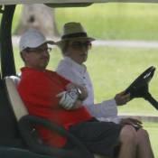Ana Maria Braga leva novo namorado, Mauro Bayout, para jogar golfe no Rio