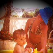 Fernanda Souza posta foto de biquíni brincando com a sobrinha