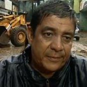 Zeca Pagodinho ajuda desabrigados por chuva em Xerém, na Baixada Fluminense