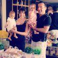 Márcia Goldschmidt e o marido, o advogado Nuno Rego, comemoram o primeiro aniversário das gêmeas Victoria e Yanne
