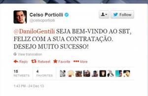 Celso Portiolli comete gafe e adianta contratação de Danilo Gentili pelo SBT
