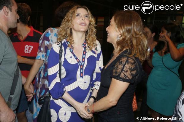 Maria Padilha e Cissa Guimarães conversam na estreia do monólogo 'Minimanual de Qualidade de Vida', com Alexandra Richter, no Teatro Leblon