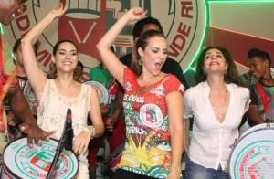 Paolla Oliveira e Christiane Torloni caem no samba na quadra da Grande Rio