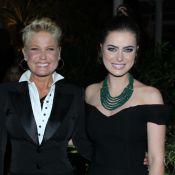 Xuxa e Rayanne Morais se encontram em festa com atores de 'A Terra Prometida'