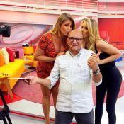 Britto Jr. aparece careca em foto com Ticiane Pinheiro e Ana Hickmann