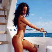 Rihanna faz topless para ensaio feito no RJ e mostra preview das fotos