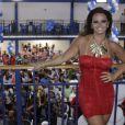 Viviane Araújo frequenta a quadra do Salgueiro em novembro de 2012, quando começa a se preparar para a folia de 2013