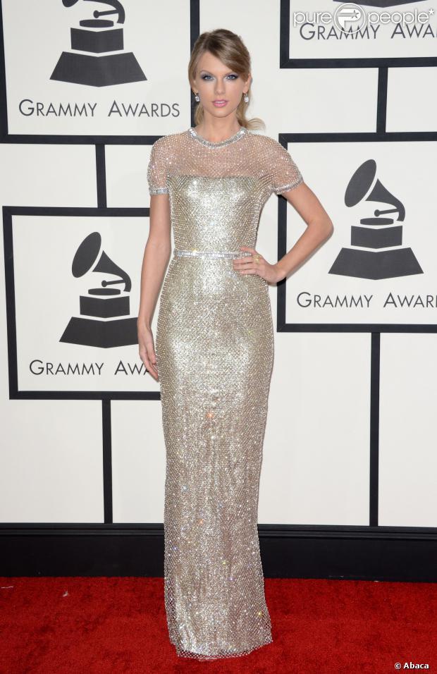 Taylor Swift veste Gucci no Grammy Awards 2014