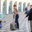 Taís Araújo deixa aeroporto de Congonhas, em São Paulo, nesta segunda-feira (3)