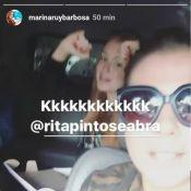 Marina Ruy Barbosa aparece animada cantando hit de Ludmilla: 'Cheguei'. Vídeo!