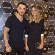 Felipe Titto e Anna Fasano no lançamento da coleção do ator