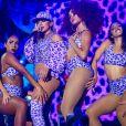 Anitta apareceu com novo visual no Festival Planeta Atlântida, no Rio Grande do Sul, na madrugada deste domingo, 5 de fevereiro de 2017