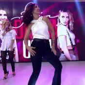 Fátima Bernardes escorrega ao dançar com Claudia Leitte e web pira: 'Sensual'