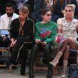 Lady Gaga caprichou na maquiagem para conferir desfile da grife Tommy Hilfiger, em 8 de fevereiro de 2017