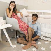 Felipe Simas e Mariana Uhlmann, grávida, mostram quarto da filha, Maria. Fotos!