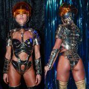 Sabrina Sato usa maiô de armadura supercavado e futurista em festa