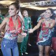 Juliana Paes prestigia feijoada da escola de samba Grande Rio e cai no samba em show com Ivete Sangalo,  em um hotel em São Conrado, na Zona Sul do Rio , na noite deste sábado, 18 de fevereiro de 2017