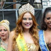 Carnaval: Ellen Rocche recebe coroa de rainha de bloco de rua em São Paulo