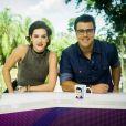 A estreia de Sophia Abrahão no comando do 'Vídeo Show' ao lado de Joaquim Lopes foi muito elogiada nas redes sociais