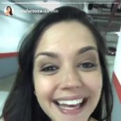 Grávida, Thais Fersoza leva Melinda para ultrassom: 'Veio ver o maninho'. Vídeo!