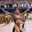 Madrinha de bateria da Gaviões da Fiel, Sabrina dividiu com os fãs em seu Instagram os momentos antes do desfile