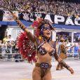 Sabrina Sato se atrasou para o desfile da Gaviões da Fiel na madrugada deste sábado, 25 de fevereiro de 2017