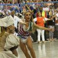 Ivete Sangalo participou da coreografia da comissão de frente da Grande Rio