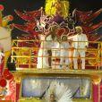Ivete volta a desfile da Grande Rio com marido, Daniel, e filho, Marcelo, nesta segunda-feira, dia 27 de fevereiro de 2017