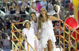 Ivete Sangalo encerra desfile da Grande Rio com marido e filho, Marcelo. Fotos!