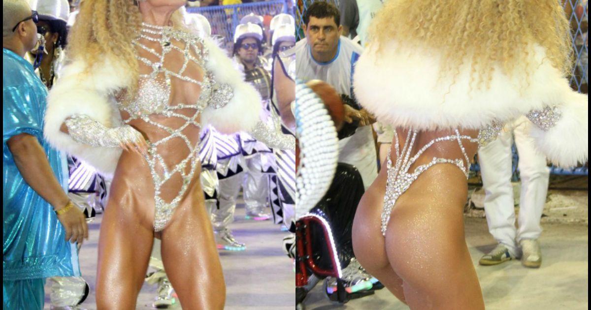 74e6eaf7f Carnaval  Sabrina Sato exibe bumbum durinho em maiô supercavado na Sapucaí.  Foto - Purepeople
