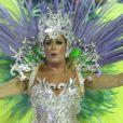 Susana Vieira mostrou boa forma no desfile de carnaval da Grande Rio