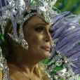 Susana Vieira se emocionou ao desfilar por mais um ano seguido na Grande Rio