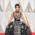 Janelle Monáe de Elie Saab Alta-Costura da coleção de Inverno 2016 na 89ª edição do Oscar, em Los Angeles, na Califórnia, realizada na noite deste domingo, 26 de fevereiro de 2017