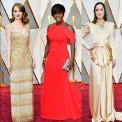 Vermelho, dourado e champagne dominam os looks do Oscar 2017. Veja as fotos!