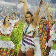 Ivete Sangalo foi a grande homenageada do samba-enredo da escola Grande Rio, que desfilou na Sapucaí na madrugada desta segunda-feira (27/02)