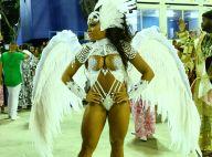 Evelyn Bastos, rainha da Mangueira, desfila com asas de 15 kg: 'Pássaro'. Fotos!
