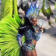 Camila Silva substituiu Carmen Mouro no posto de rainha de bateria da Mocidade Independente de Padre Miguel no Carnaval 2017